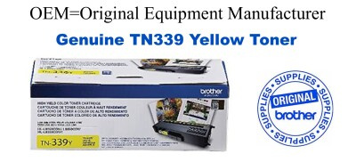Genuine Brother TN339Y Yellow Toner Cartridge