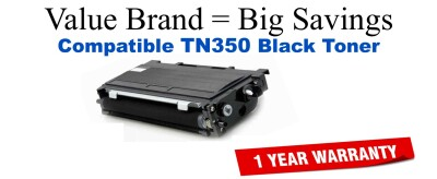 TN350 Black Compatible Value Brand toner