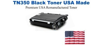 TN350 Black Premium USA Made Remanufactured Brother toner