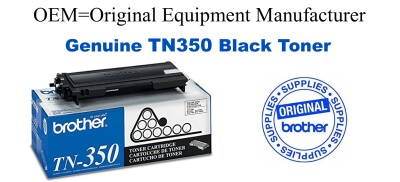 TN350 Black Genuine Brother toner