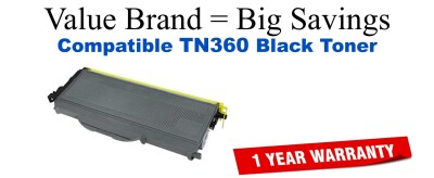TN360 Black Compatible Value Brand toner