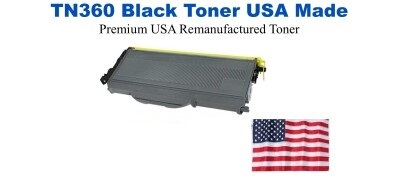 TN360 Black Premium USA Made Remanufactured Brother toner