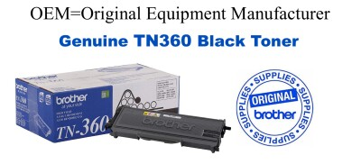 TN360 Black Genuine Brother toner