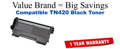 TN420 Black Compatible Value Brand toner