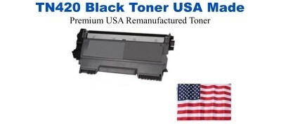 TN420 BlackPremium USA Made Remanufactured Brother toner