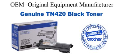 TN420 Black Genuine Brother toner