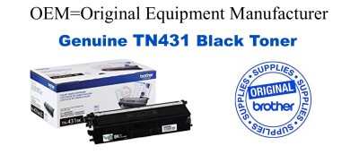 TN431BK Brother Original Black Toner HL-L8260CDW L8360CDW L8360CDWT, MFC-L8610CDW L8900CDW