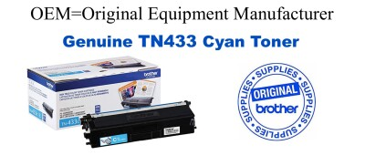 TN433C Cyan Genuine Brother toner