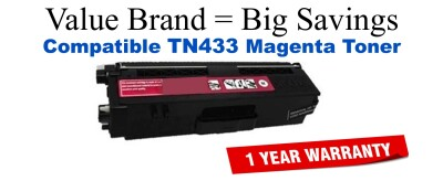 TN433M Brother Compatible Magenta Toner