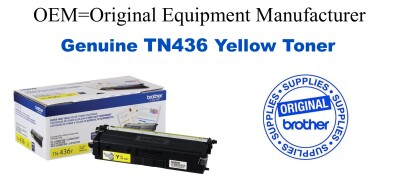 TN436Y Brother Original Yellow Toner HL-L8360CDW L8360CDWT L9310CDW,MFC-L8900CDW L9570CDW