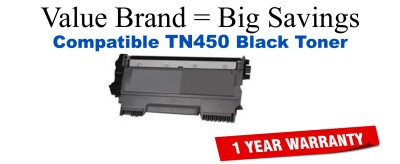 Brother TN450 Black Remanufactured High Yield Toner Cartridge