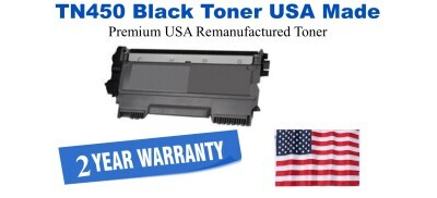 TN450 Black Premium USA Made Remanufactured Brother toner