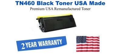 TN460 Black Premium USA Made Remanufactured Brother toner