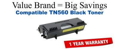 TN560 Black Compatible Value Brand Brother toner