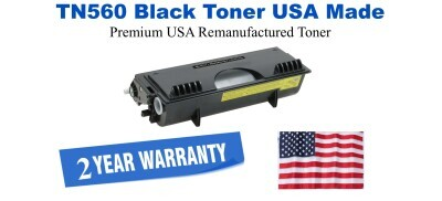 TN560 Black Premium USA Made Remanufactured Brother toner