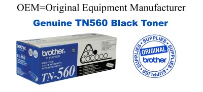TN560 Black Genuine Brother toner