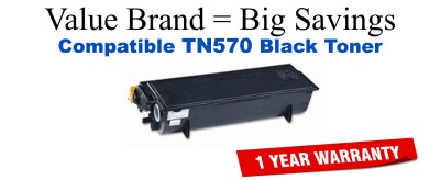 TN570 Black Compatible Value Brand Brother toner