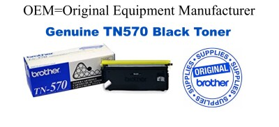 TN570 Black Genuine Brother toner