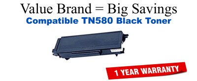 Brother TN580 Black Remanufactured Toner Cartridge