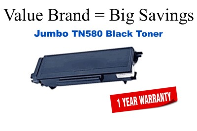 Brother Reman TN580 JUMBO BLack Toner Cartridge 70% Higher Yield