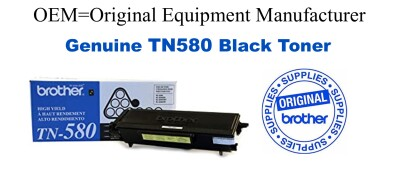 TN580 Black Genuine Brother toner