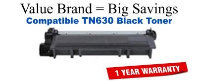 TN630 Black Compatible Value Brand Brother toner