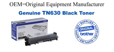 Genuine Brother TN630 Black Toner Cartridge