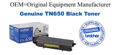 TN650 Black Genuine Brother toner