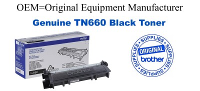 Genuine Brother TN660 Black Toner Cartridge