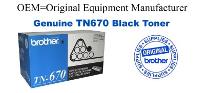 TN670 Black Genuine Brother toner