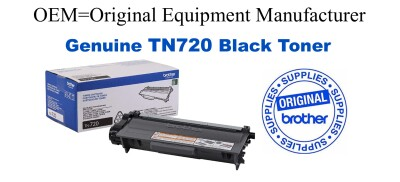 TN720 Black Genuine Brother toner