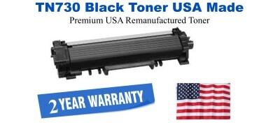 TN730 Black Premium USA Made Remanufactured Brother toner