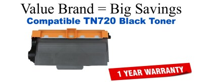 TN750 Black Compatible Value Brand Brother toner