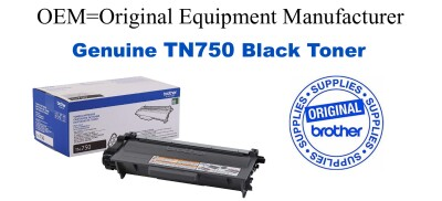 TN750 Black Genuine Brother toner