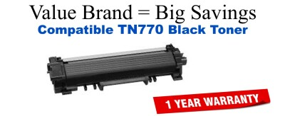 Brother TN770 Black Remanufactured Toner Cartridge
