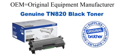 TN820 Black Genuine Brother toner