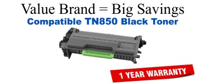 Remanufactured Brother TN850 Black Toner for use in