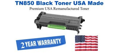 TN850 Black Premium USA Made Remanufactured Brother toner