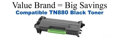 Brother TN880 Black High Yield Remanufactured Toner Cartridge