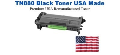 TN880 Black Premium USA Made Remanufactured Brother toner