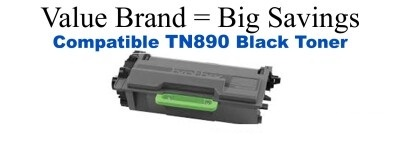 TN890 Brother Compatible Black Toner works only with DR890 Drum Unit
