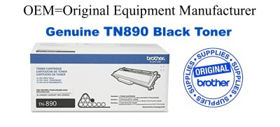 TN890 Brother Original Black Toner Works only with DR890 drum HL-L6400DW L6400DWT L6250DW, MFC-L6900DW L6750DW