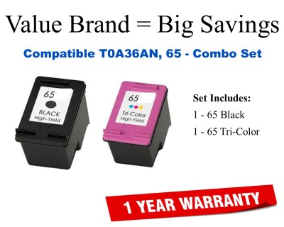 TOA36AN Compatible Value Brand Inks Black and Color Combo