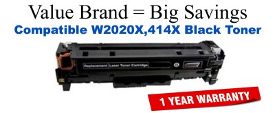 W2020X,414X High Yield Black Compatible Value Brand toner