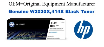 W2020X,414X Genuine High Yield Black HP Toner