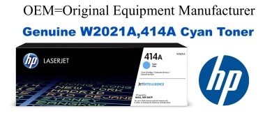W2021A,414A Genuine Cyan HP Toner