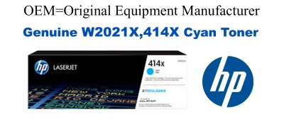 W2021X,414X Genuine High Yield Cyan HP Toner