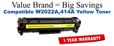 W2022A,414A Yellow Compatible Value Brand toner