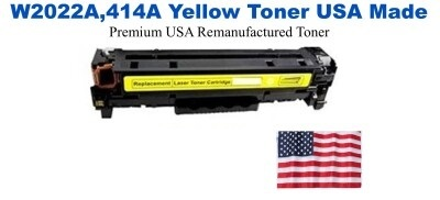 W2022A,414A Yellow Premium USA Made Remanufactured HP toner