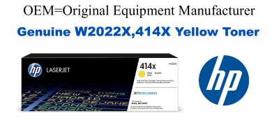 W2022X,414X Genuine High Yield Yellow HP Toner